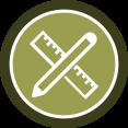 Badge diseño huerta